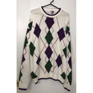 Tommy Hilfiger Crewneck Sweater M Cotton Linen HTF